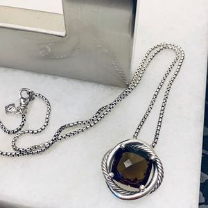 ✔️David Yurman Smoky Quartz Infinity Necklace